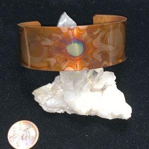 Torched Copper Bracelet Cuff - Heat Designed